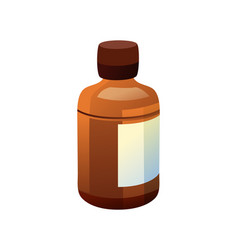 Bottle made of glass and label vector