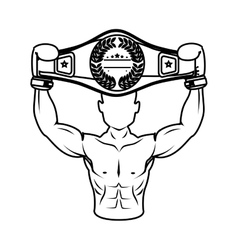 Boxer silhouette avatar icon vector