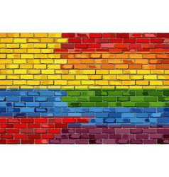Brick Wall Colombia and Gay flags vector