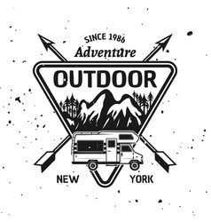 camping recreation and adventure emblem vector image