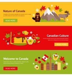 Canada banner set vector image