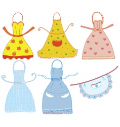 Cartoon aprons vector