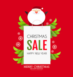 Christmas sale design template with cute vector
