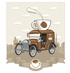 coffee car vector image