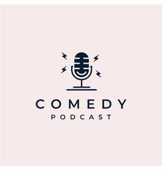 Comedy podcast logo design inspiration vector