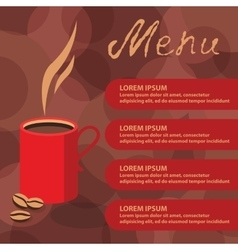 Corporate identity of menu cafe coffee background vector image