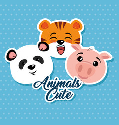cute animals cartoon vector image
