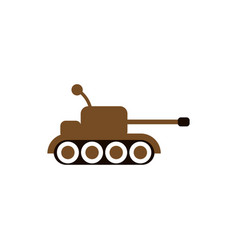 cute tank graphic design template isolated vector image