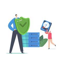 Data backup modern technologies raid concept vector