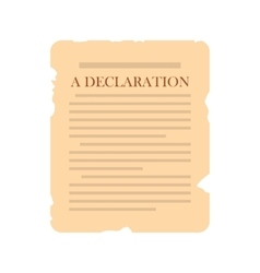 Declaration icon flat vector