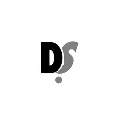 Ds d s black white grey alphabet letter logo icon vector