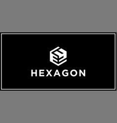Ey hexagon logo design inspiration vector