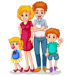 Family members with parents and children vector