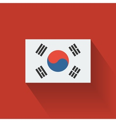Flat flag of South Korea vector