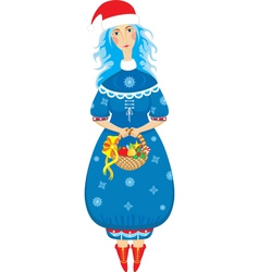 girl xmas isolated vector image