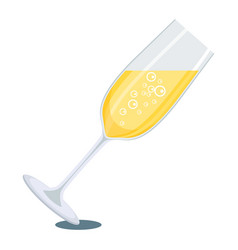 glass of white champagne vector image