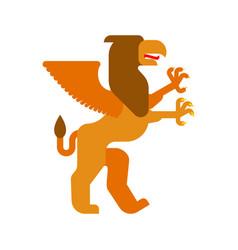 Griffin heraldic animal fantastic beast monster vector