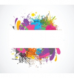 Grunge colors vector