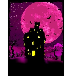 halloween mansion background vector image
