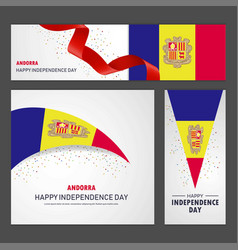 Happy andorra independence day banner and vector