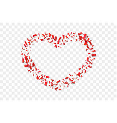 heart confetti isolated white transparent vector image