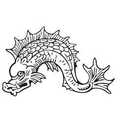 Heraldic dolphin No5 vector