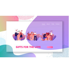 human relations loving couple gifts website vector image