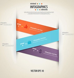 infographics minimal 3 vector image vector image