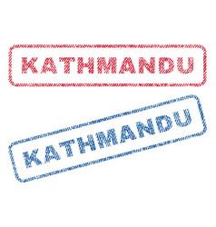 Kathmandu textile stamps vector
