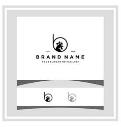 Letter b chicken logo design concept vector