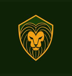 Lion shield vector