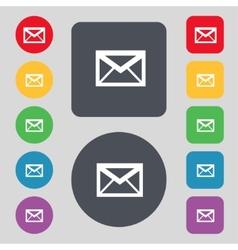 Mail icon Envelope symbol Message sign navigation vector image