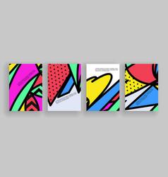 minimal covers design placard templates set vector image