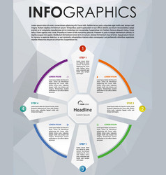 modern colorful infographics with circle vector image