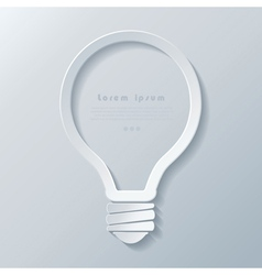 Modern idea lightbulb icon banner template vector image