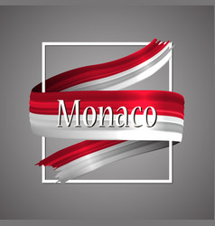 monaco flag official national monacos 3d symbol vector image