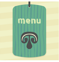 Mushroom slice icon modern infographic logo vector