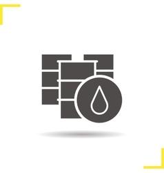 Oil barrels icon vector