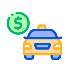 online taxi payment icon vector image