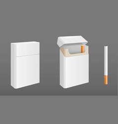 Pack cigarettes with one cigarette vector