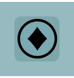 Pale blue diamonds sign vector