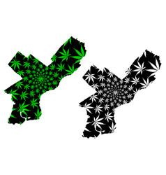 Philadelphia city - map is designed cannabis leaf vector
