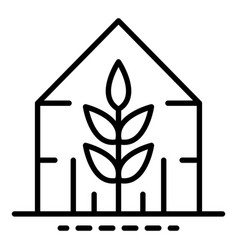 Plant greenhouse icon outline style vector