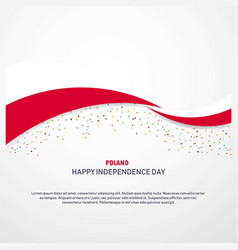 Poland happy independence day background vector