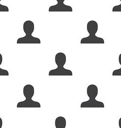profile seamless pattern vector image