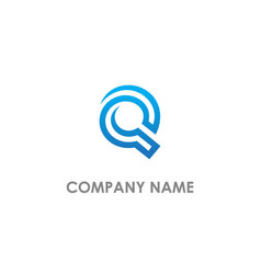 Q initial round abstract logo vector