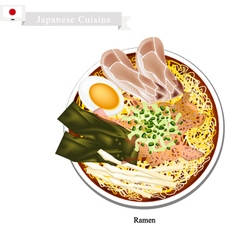 Ramen or japanese style noodle soup vector
