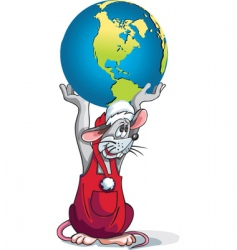 rat earth vector image vector image