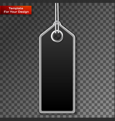 realistic discount sale tag vector image