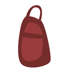 red backpack icon isometric style vector image